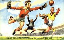 spo030122 - Regles du Football Soccer Postcard Post Card Old Vintage Antique