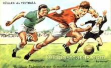 spo030123 - Regles du Football Soccer Postcard Post Card Old Vintage Antique