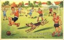 spo030124 - Soccer Postcard Post Card Old Vintage Antique