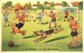 spo030124 - Soccer Postcard Post Card Old Vintage Antique