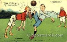 spo030125 - Football Soccer Postcard Post Card Old Vintage Antique