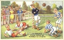 spo030127 - La Presence Soccer Postcard Post Card Old Vintage Antique
