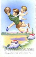 spo030135 - Soccer Postcard Post Card Old Vintage Antique