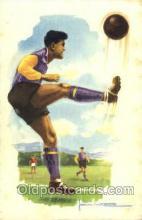 spo030143 - Soccer Postcard Post Card Old Vintage Antique
