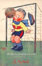 spo030148 - Old Vintage Soccer Postcard Post Card