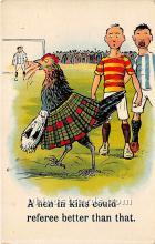 spo030153 - Old Vintage Soccer Postcard Post Card