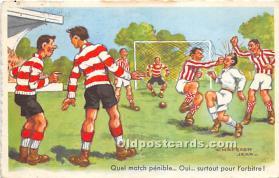 spo030157 - Old Vintage Soccer Postcard Post Card