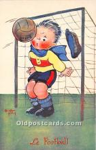 spo030161 - Old Vintage Soccer Postcard Post Card