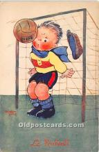 spo030162 - Old Vintage Soccer Postcard Post Card