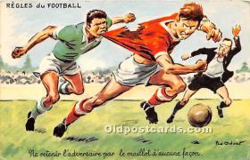 spo030163 - Old Vintage Soccer Postcard Post Card