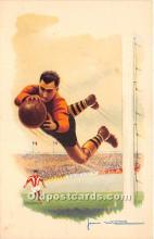 spo030165 - Old Vintage Soccer Postcard Post Card