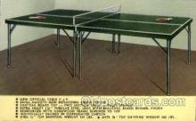 spo031022 - Ping Pong Table Tennis Non Postcard Backing
