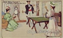spo031027 - Ping Pong Table Tennis Red Star Line Reproduction Postcard Postcards