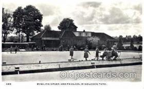 spo032056 - Wimbleton Park, Lawn Bowling, Postcard Postcards
