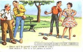spo032117 - Lawn Bowling Artist Chaperon Jean Postcard Postcards