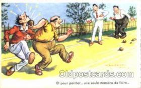 spo032119 - Lawn Bowling Artist Chaperon Jean Postcard Postcards