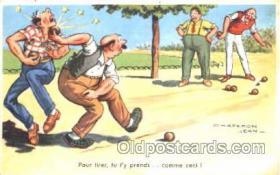 spo032120 - Lawn Bowling Artist Chaperon Jean Postcard Postcards