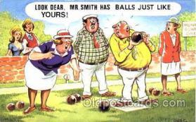 spo032131 - Lawn Bowling Postcard Postcards