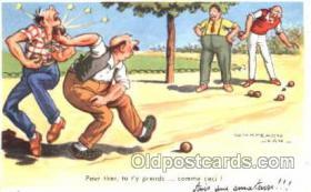 spo032132 - Lawn Bowling Artist Chaperon Jean Postcard Postcards