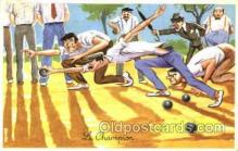 spo032176 - Le Champion Lawn Bowling, Postcard Post Card Old Vintage Antique