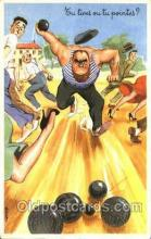 spo032177 - Lawn Bowling, Postcard Post Card Old Vintage Antique