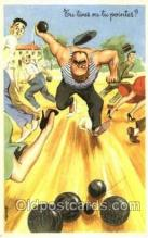 spo032179 - Lawn Bowling, Postcard Post Card Old Vintage Antique