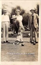 spo032181 - Old Vintage Lawn Bowling Postcard Post Card