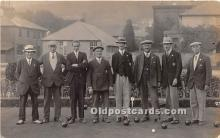 spo032184 - Old Vintage Lawn Bowling Postcard Post Card