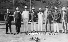 spo032188 - Old Vintage Lawn Bowling Postcard Post Card