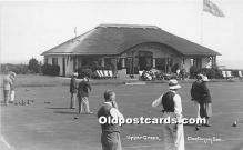 spo032196 - Old Vintage Lawn Bowling Postcard Post Card