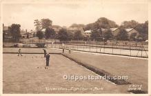 spo032198 - Old Vintage Lawn Bowling Postcard Post Card
