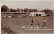 spo032201 - Old Vintage Lawn Bowling Postcard Post Card