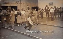spo032209 - Old Vintage Lawn Bowling Postcard Post Card