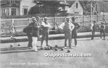 spo032214 - Old Vintage Lawn Bowling Postcard Post Card