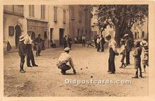 spo032216 - Old Vintage Lawn Bowling Postcard Post Card