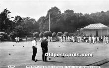 spo032219 - Old Vintage Lawn Bowling Postcard Post Card