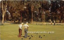 spo032230 - Old Vintage Lawn Bowling Postcard Post Card