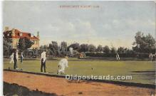 spo032242 - Old Vintage Lawn Bowling Postcard Post Card
