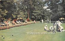 spo032244 - Old Vintage Lawn Bowling Postcard Post Card