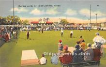 spo032250 - Old Vintage Lawn Bowling Postcard Post Card