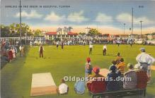 spo032252 - Old Vintage Lawn Bowling Postcard Post Card