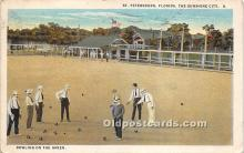 spo032258 - Old Vintage Lawn Bowling Postcard Post Card