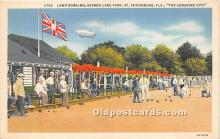 spo032259 - Old Vintage Lawn Bowling Postcard Post Card