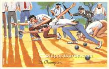 spo032267 - Old Vintage Lawn Bowling Postcard Post Card