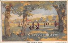 spo032270 - Old Vintage Lawn Bowling Postcard Post Card