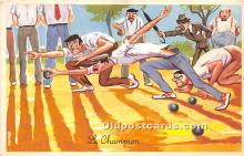 spo032272 - Old Vintage Lawn Bowling Postcard Post Card