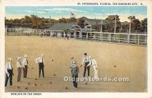 spo032275 - Old Vintage Lawn Bowling Postcard Post Card