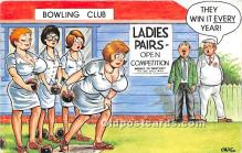 spo032276 - Old Vintage Lawn Bowling Postcard Post Card