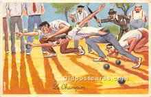 spo032277 - Old Vintage Lawn Bowling Postcard Post Card