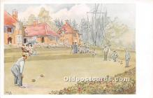 spo032278 - Old Vintage Lawn Bowling Postcard Post Card